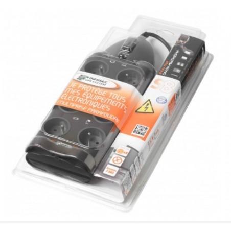 INFOSEC S8 Parasurtenseur 8 Prises FR - câble 1,80 m