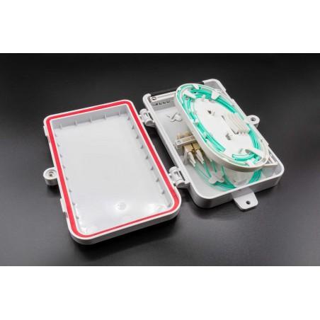 Boitier FTTH Jusqu'à 8FO - Etanche ip65 LC Duplex + cassette pigtails