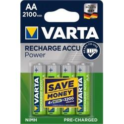 Blister 4 piles rechargeables AA 2100 mAh NiMH Varta