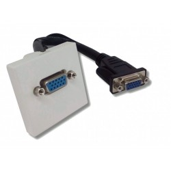 Plastron 45x45 VGA Femelle + câble 5m VGA Male