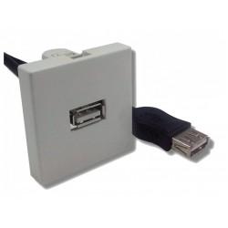 Plastron 45x45 USB2.0 Type A/F vers A/F - 20cm